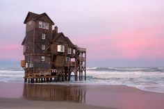 Serendipity - a house that sits on the edge of the Pea Island Wildlife Refuge in North Carolina's Outer Banks.