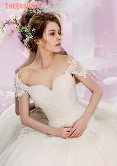 A cap sleeve is more of a decorative detail than a true sleeve – but it's a great-looking addition to what would otherwise be a simple arm-baring wedding gown. Please contact the design…