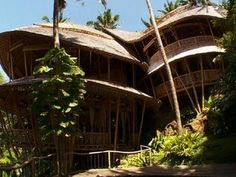 On the tropical island of Bali, Indonesia, there are homes tucked into the jungle that look like something out of a fairytale. They're designed to have soaring roof lines, few walls or windows - and nearly everything is fashioned from bamboo. Seth Doane reports.