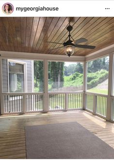 Beautiful screened in porch