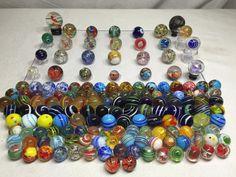 157 Handmade Contemporary Art Glass Marble Lot German Swirl Core ORB Paperweight | eBay