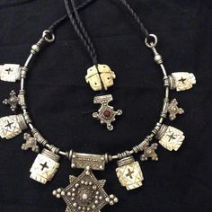 Silver cross with very old shell faouzi designer Marrakesh