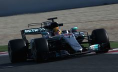 Lewis Hamilton of Great Britain driving the (44) Mercedes AMG Petronas F1 Team Mercedes F1 WO8 on track during day three of Formula One winter testing at Circuit de Catalunya on March 9, 2017 in Montmelo, Spain.
