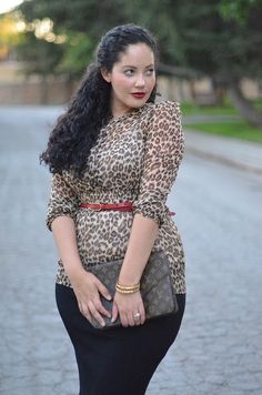 Tanesha Awasthi of Girl With Curves. She's gorgeous. Love her clothes and her blog