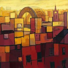 One of my favourite paintings of Newcastle, recently printed after I tracked down the owner of it. Alot more abstract than my other cityscape prints, inspired by some of my abstract Grid paintings. Stripping back the structures, removing the constraints of perspective, whilst playing with line, form and colour. With just a suggestion of a landmark to give composition a location. Signed limited edition print