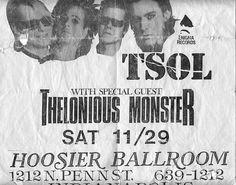 TSOL punk hardcore flyer