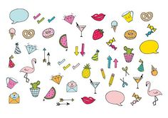 colourful printable diary stickers