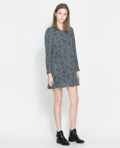 Image 1 of PRINTED FLOUNCE DRESS from Zara