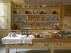 The Kitchen in the basement at Uppark, West Sussex