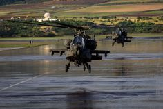 https://flic.kr/p/Cno7A6 | AH-64 Apache crews | U.S. Army AH-64 Apache helicopter crews, assigned to 16th Combat Aviation Brigade, 7th Infantry Division, land at Wheeler Army Airfield, Hawaii, Jan. 6, 2016. The helicopters and crews are in Hawaii training with U.S. Army Pacific's 25th Combat Aviation Brigade, 25th Infantry Division. U.S. Army photo by Sgt. Daniel Johnson