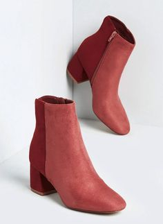 Apr 2020 - Go On Colorblocked Ankle Boot - Strutting around town is easy when you're rockin' these pink, colorblocked ankle boots. An easy pick for denim or dresses, this faux-suede pair is finished with a rounded toe and chunky mid heel. Grey High Heels, Womens High Heels, Knee High Boots, Suede Booties, Ankle Booties, Pink Ankle Boots, Buy Shoes, Women's Shoes, Dress Shoes