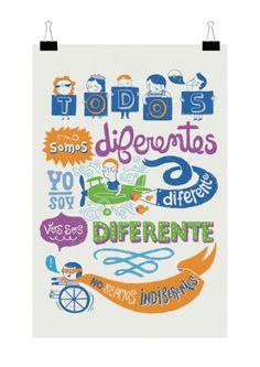 Afiche sobre Diversidad para Teleton - Adri Peralta