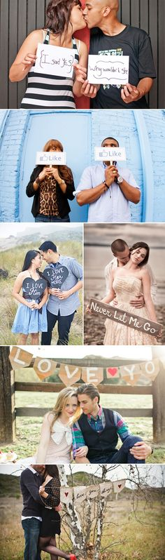 23 Fun Engagement Photos - Special Message