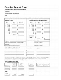 Daily cash sheet template cash count sheet audit working papers cashier report altavistaventures Images