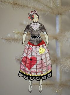 altered art paper doll