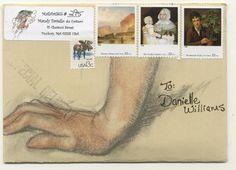 OH more beautiful Mail Art inspiration please Envelope Lettering, Envelope Art, Envelope Design, Degas Drawings, Collages, Mail Art Envelopes, You've Got Mail, Going Postal, Decorated Envelopes