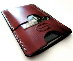 Oxblood Brown iPhone 5 Leather Wallet Hand by SanFilippoLeather, $42.00