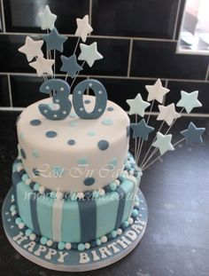 Two Tier 30th Cake