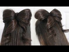 Hair Bow Tutorial Hairstyle Half-Updo for Medium Long Hair...This youtube site has 159 videos for hairstyles!!