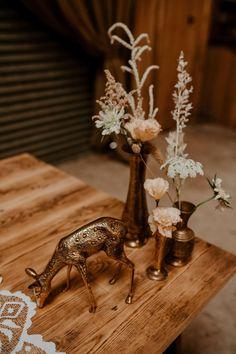 Animal Decor Flowers Whimsical Boho Wedding Camilla Andrea Photography #AnimalWedding #WeddingDecor #WeddingFlowers #Wedding