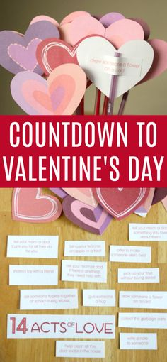 Countdown to Valentine's Day with 14 acts of kindness! Plus a FREE Printable!