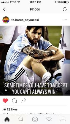 On this day my Lionel Messi and his Argentina lost the Copa America to chile for the second year in a row. They lost their 3rd final in 3 years and their 4th Copa America final since 2004. No matter this I still believe in Messi and I still believe in Argentina