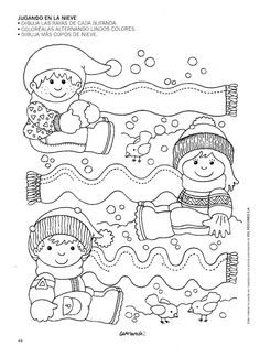 Crafts,Actvities and Worksheets for Preschool,Toddler and Kindergarten.Lots of worksheets and coloring pages. Winter Kids, Winter Art, Winter Theme, Creative Activities, Winter Activities, Preschool Activities, Coloring Books, Coloring Pages, Worksheets For Kids