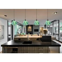 Jezebel Radiance Seafoam Green Small Flame Pendant Light. #Pendantlight # Lighting /  sc 1 st  Pinterest & 22 best green pendant lights images on Pinterest   Hanging lamps ...