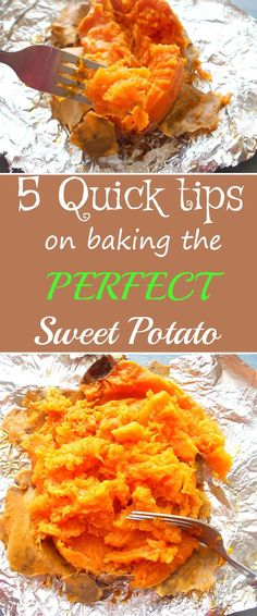 5 tips on how to bake the perfect sweet potato. It is easy to bake the perfect sweet potato by using these quick and essential tips. This is the best how-to recipe for a sweet potato.  Since they are lo carb, sweet potatoes make for the best snack and dinner idea.  Works great for Vegan, Vegetarian recipes or for any type of diet