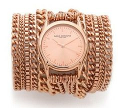 Drink rose and wear Rose Gold All Chain Wrap Watch for SUMMER
