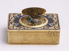 Musical box,19th century  Swiss. Gold,enamel,diamonds.