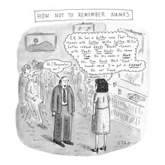 How Not to Remember Names - Roz Chast