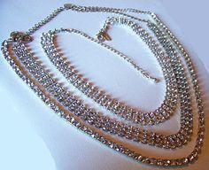 Vintage Rhinestone Necklace Choker Lot by BrightgemsTreasures, $24.50