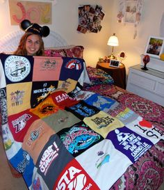 blanket of childhood memories and adventures. A real story from a Project Repat t-shirt quilt customer