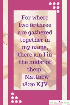 Bible Verses: Matthew 18:20 #bibleverses #bible