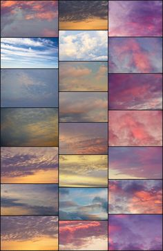 A Walk in the Clouds: Dreamy Sky Overlays – Textures for Photoshop(TheArtisticNest-Etsy) Sky Photoshop, Photoshop Overlays, Photoshop Elements, Photoshop Tutorial, Photoshop Actions, Advanced Photoshop, Photoshop Effects, Blog Fotografia, Guache