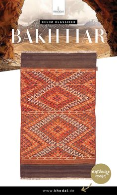 Kelim Teppich Bakhtiar - Klassischer Webteppich fein bestickt von KHODAI - Handmade Carpets