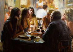 """""""Sketch in restaurant"""", artist Vladimir Volegov"""
