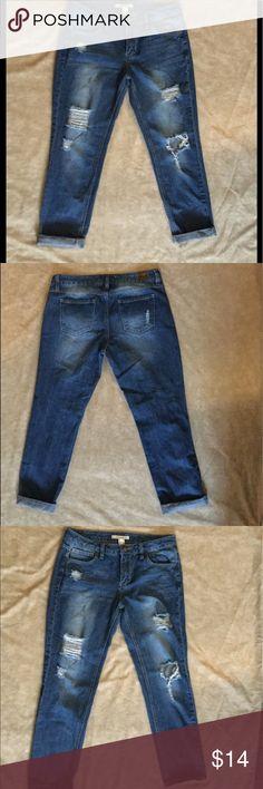 Life In Progress Jeans Life In Progress distressed boyfriend jeans size 10 Life In Progress Jeans Boyfriend
