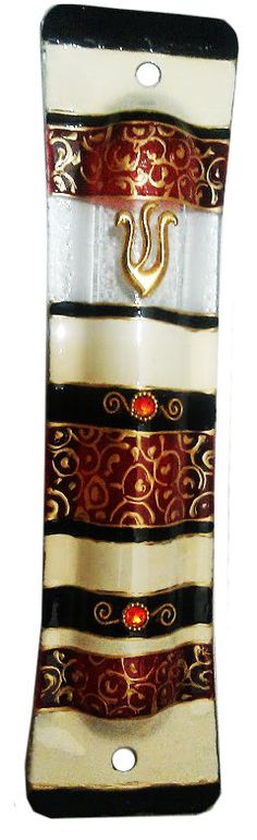 Mezuzah  New Case Glass scroll Israel Judaica par IrinaSmilansky, $55.99