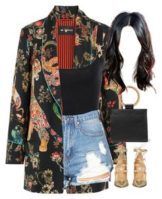 """26.07.17"" by jamilah-rochon ❤ liked on Polyvore featuring Etro, Edie Parker and Dsquared2"