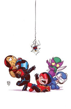 Superior Foes of Spider-Man variant cover - Skottie Young