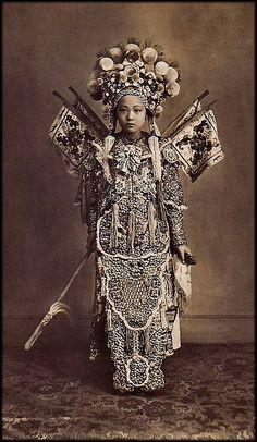 Cholon Actress, Cholon, Saigon, French Cochinchina [c1900's] Attribution Unk [RESTORED]