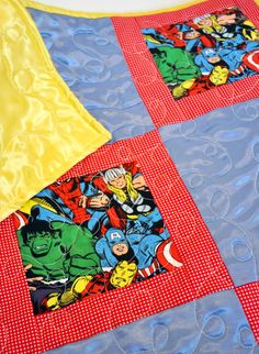 Avengers Quilt Avengers Nursery Avengers by OutOfCharacterQuilts