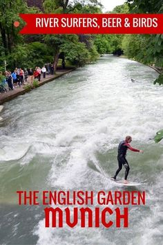 Guide and tips for visiting the English Garden in Munich with kids. See the River Surfers, birds and a family-friendly beer garden. Germany with kids