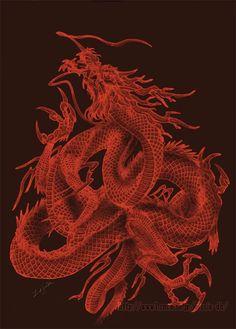 Oriental dragon by LusiaNanami.deviantart.com on @deviantART