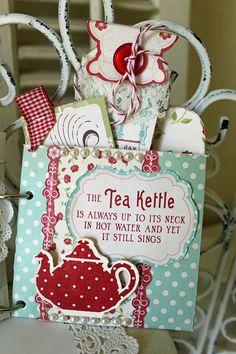 Time for Tea Mini Album - Scrapbook.com - Such a sweet idea. #scrapbooking #minialbum