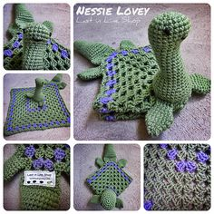 What little monster would not love a monster of their own to cuddle? This Nessie Lovey is equal parts weird and adorable: perfect for that sassy baby in your life. You can easily customize the blanket portion with a contrasting color of your choosing. Perfect for matching nursery colors! This lovey works up quick and makes a great gift.