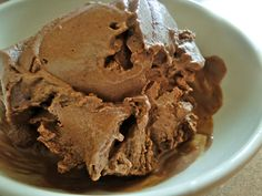 Vegan carob ice cream