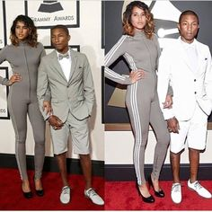 Pharrell and his wife at the Grammy's